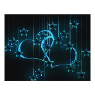 Starry Night Lovers Blue Black 21.5 Cm X 28 Cm Flyer