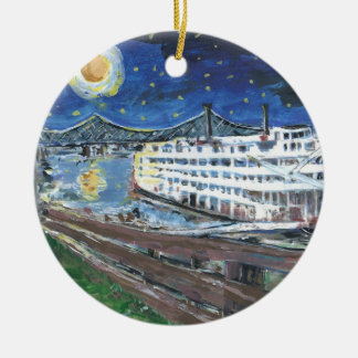 Starry Night Mississippi Queen Christmas Ornament