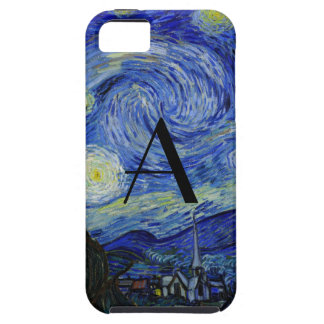 Starry night monogram iPhone 5 covers