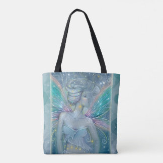 Starry Night Mystical Fairy Fantasy Art Tote Bag