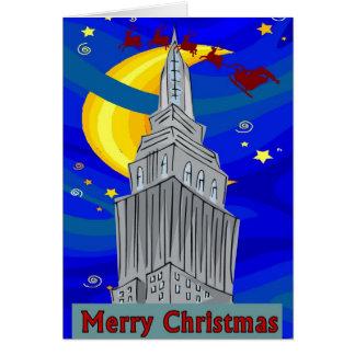 Starry Night New York Christmas Card