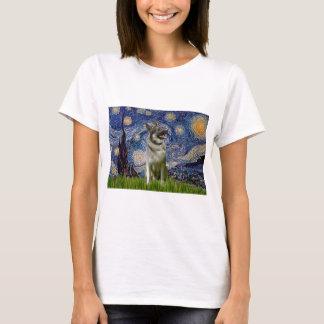 Starry Night - Norwegian Elkhound T-Shirt