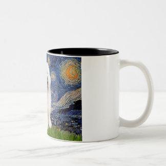 Starry Night - Old English #3 Two-Tone Coffee Mug