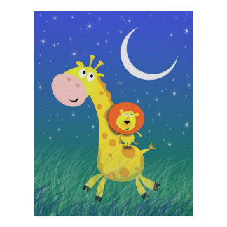 Starry Night on the Savannah Kid's Art Print