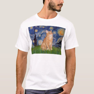 Starry Night - Orange Tabby 46 T-Shirt