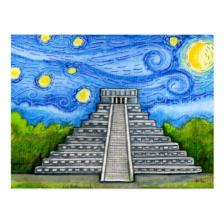 Starry Night Over Aztec Ruins Postcard