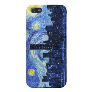 Starry Night Over New York City iPhone 5/5S Covers