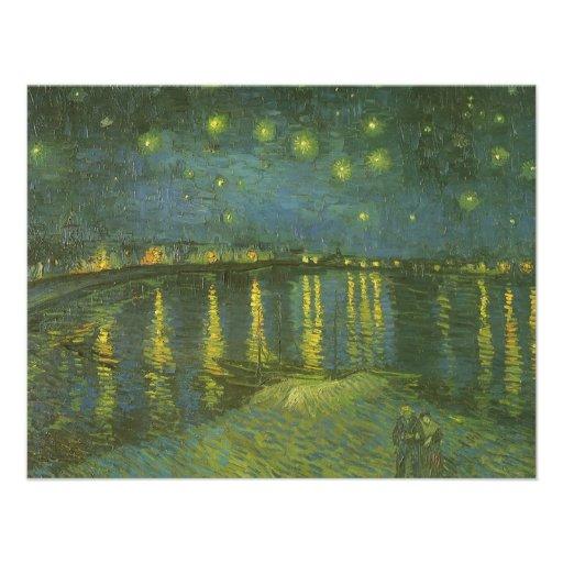 Starry Night Over Rhone by van Gogh, Graduation Custom Announcements