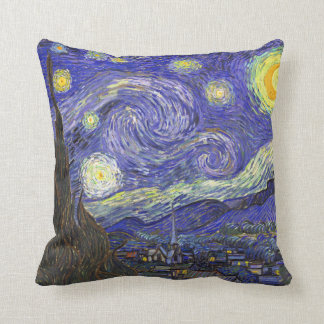 Starry Night Over Rhone van Gogh Throw Pillow