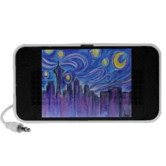 Starry Night Over Seattle Travel Speakers