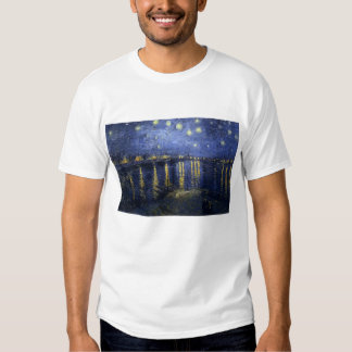 Starry Night over the Rhine T-Shirt - Van Gogh