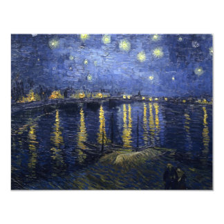 Starry Night Over the Rhone 11 Cm X 14 Cm Invitation Card