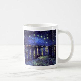 starry night over the rhone 1890 basic white mug