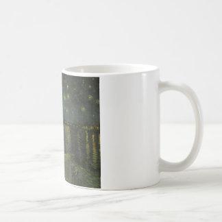 Starry Night Over the Rhone Basic White Mug