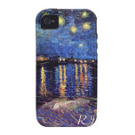 Starry night over the Rhone by Van Gogh Vibe iPhone 4 Cases