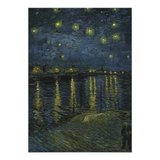 Starry Night Over the Rhone by Van Gogh Custom Announcement