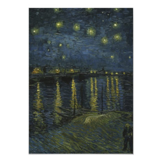 """Starry Night Over the Rhone by Van Gogh 5"""" X 7"""" Invitation Card"""