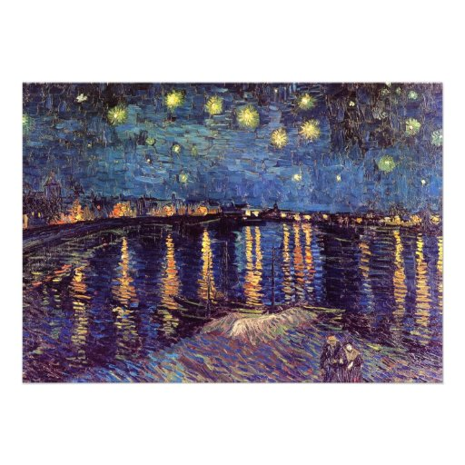Starry night over the Rhone by Vincent van Gogh Announcement