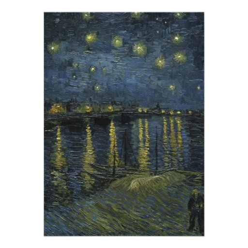 Starry Night Over the Rhone by Vincent Van Gogh Custom Announcements