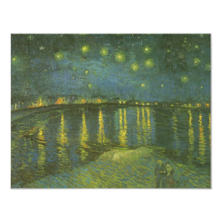 Starry Night Over the Rhone by Vincent van Gogh 4.25x5.5 Paper Invitation Card