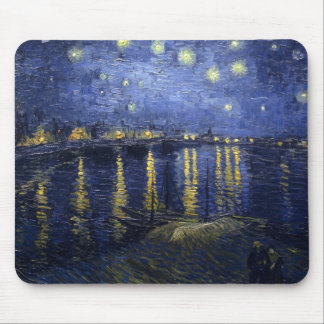 Starry Night Over the Rhone by Vincent van Gogh Mouse Mat