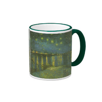 Starry Night Over the Rhone by Vincent van Gogh Ringer Coffee Mug