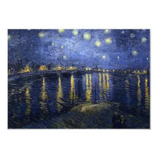 "Starry Night Over the Rhone Invitation 3.5"" X 5"" Invitation Card"