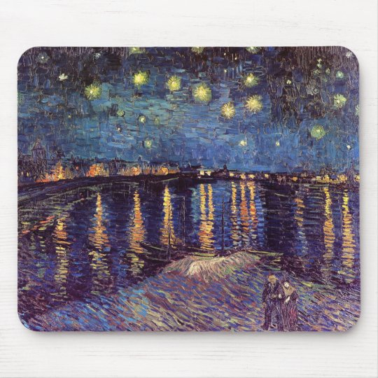 Starry Night Over The Rhone Mouse Mat
