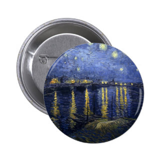 Starry Night over the Rhone Pinback Buttons
