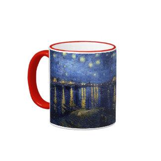 Starry Night Over the Rhone Ringer Mug