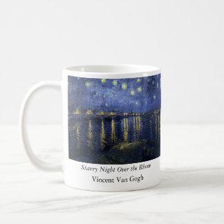 Starry Night Over the Rhone - Van Gogh (1888) Basic White Mug