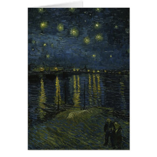 Starry Night Over the Rhone - Van Gogh Greeting Card
