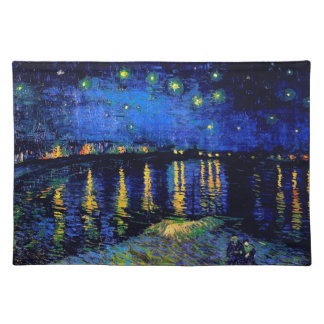 Starry Night Over the Rhone Van Gogh Fine Art Placemat
