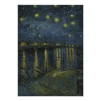 Starry Night Over the Rhone - Van Gogh Invitation