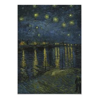 Starry Night Over the Rhone - Van Gogh 5x7 Paper Invitation Card
