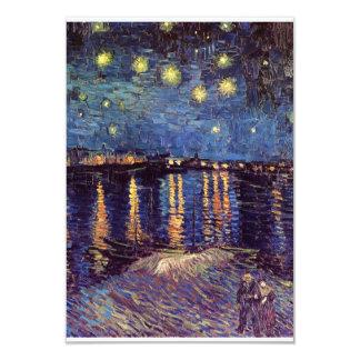 Starry Night Over the Rhone - Van Gogh 3.5x5 Paper Invitation Card