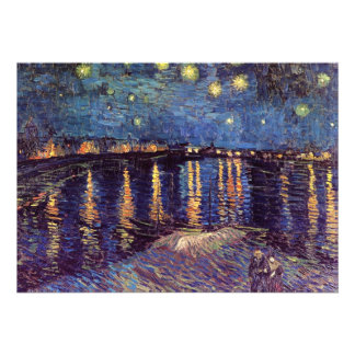 Starry Night Over the Rhone - Van Gogh Announcements