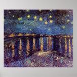 Starry Night Over the Rhone - Van Gogh Poster