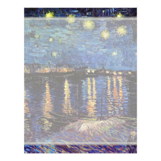 Starry Night over the Rhone, Vincent van Gogh 21.5 Cm X 28 Cm Flyer