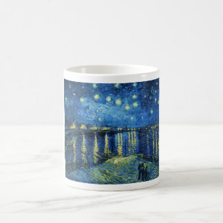 Starry Night over the Rhone Vincent van Gogh Basic White Mug