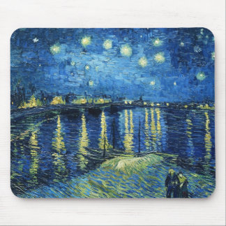 Starry Night over the Rhone Vincent van Gogh Mouse Mat
