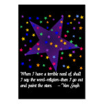 Starry Night Pack Of Chubby Business Cards