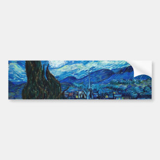 Starry Night Painting By Painter Vincent Van Gogh Bumper Stickers
