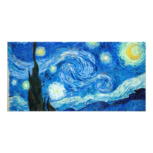 Starry Night Painting By Painter Vincent Van Gogh Customised Photo Card