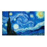 Starry Night Painting By Painter Vincent Van Gogh Pack Of Standard Business Cards