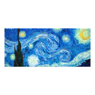 Starry Night Painting By Painter Vincent Van Gogh Rack Card