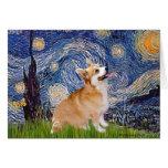 Starry Night - Pembroke Welsh Corgi 7b Greeting Card
