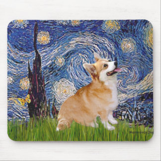 Starry Night - Pembroke Welsh Corgi 7b Mouse Mat