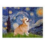 Starry Night - Pembroke Welsh Corgi 7b Post Card
