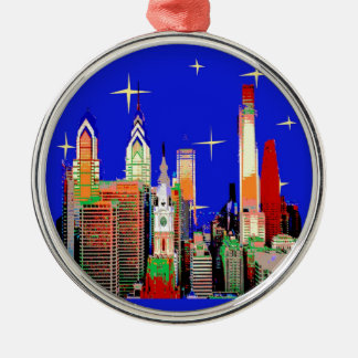 Starry Night Philadelphia, Abstract Sky with Stars Christmas Ornament